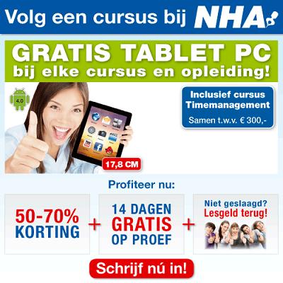 NHA gratis tablet bij abonnement