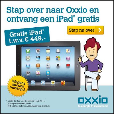 Gratis iPad bij Oxxio